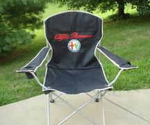 Black Round Alfa Romeo logo chair